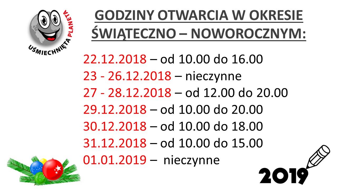 godziny otwarcia swieta 2018